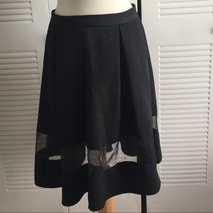 Black skirt with sheer panel